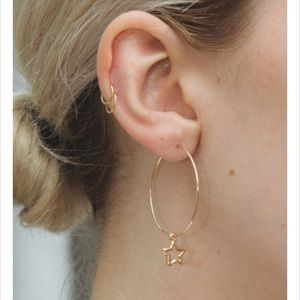 Gold Star Hoop Earring *2 Available*